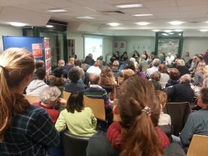 Veranstaltung für Ehrenamtliche und Leiter von Flüchtlingsunterkünften in der Stadbibliothek Sendling am 1. Februar 2016