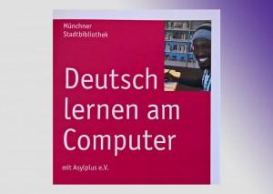 Flyeer Deutsch Lernen am Computer