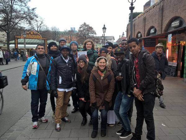 Stadtführung - Gruppe: 13 Personen, 10 Nationalitäten