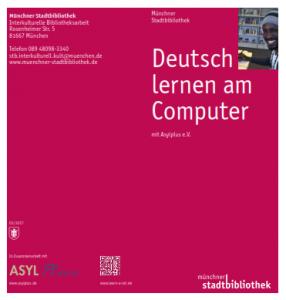Flyer Deutsch lernen am Computer
