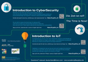 Cybersicherheit und Internet of Things Plakat