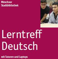 German learning groups with tutors and Laptops