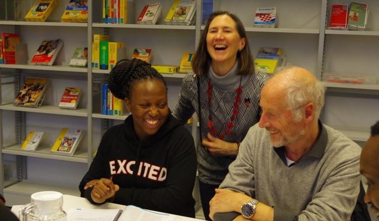 Jenny Jennings, Hans Heller und Barbara aus Uganda - Deutsch Lerntreff München Westend